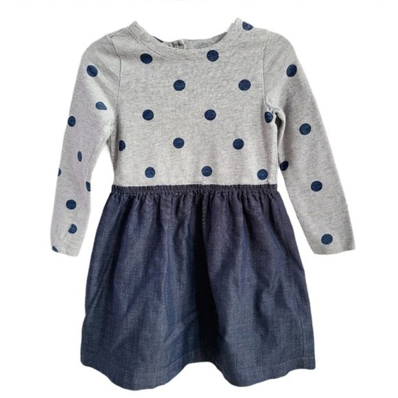 Baby Gap Girl's Mix Fabric Polka Dot Dress